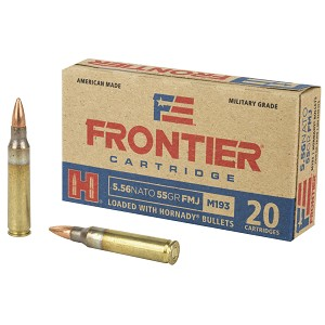 Frontier Cartridge, Lake City, 556 NATO, 55 Grain